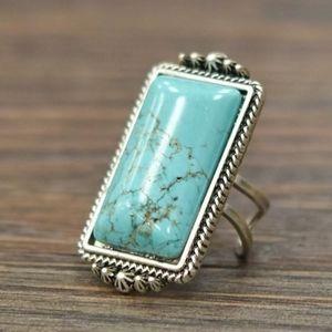 Kaden Natural Turquoise Adjustable Ring